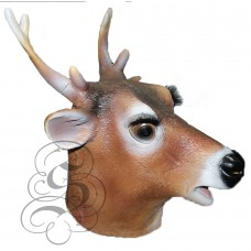 Latex Deer Stag Reindeer Mask